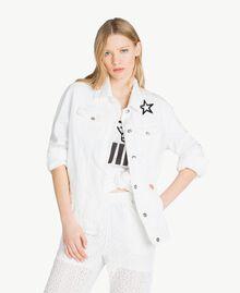 Veste étoiles Blanc Femme JS82Z7-01