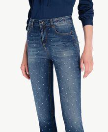 Jean skinny strass Bleu Denim JA72S4-04