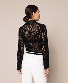 Байкерская куртка из кружева макраме Черный женщина 201MP2231-03