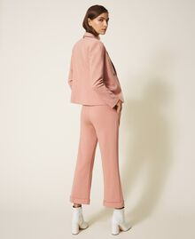 "Trousers with folded hem and stitching ""Vintage"" Pink Woman 202ST2023-03"