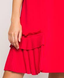 Georgette dress with pleats Black Woman 201TP2026-04
