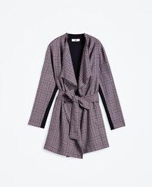 """Scottish flannel dressing gown """"Reddish"""" Red Tartan Print Woman LA8NEE-01"""