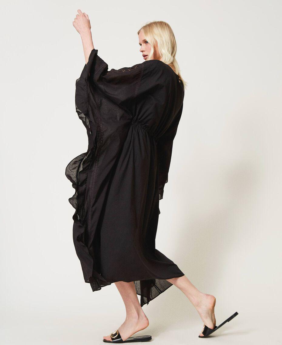 Marrakech muslin long dress with embroidery Black Woman 211TT2704-02