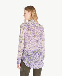 Printed shirt Violet Mix Print Woman PS82X5-03