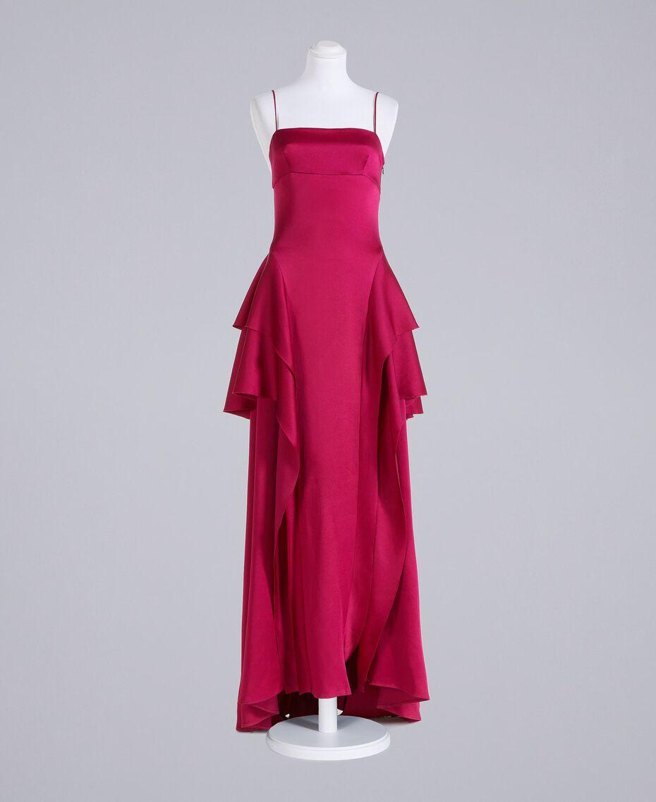 "Langes Kleid ""Anemonen""-Fuchsia Frau QS8TGF-0S"