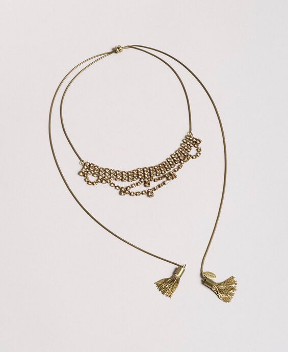 Collier chocker avec strass