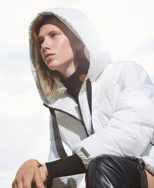Long puffer jacket with drawstring Ivory Woman 202LI2AAA-05
