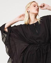 Marrakech muslin long dress with embroidery Black Woman 211TT2704-05