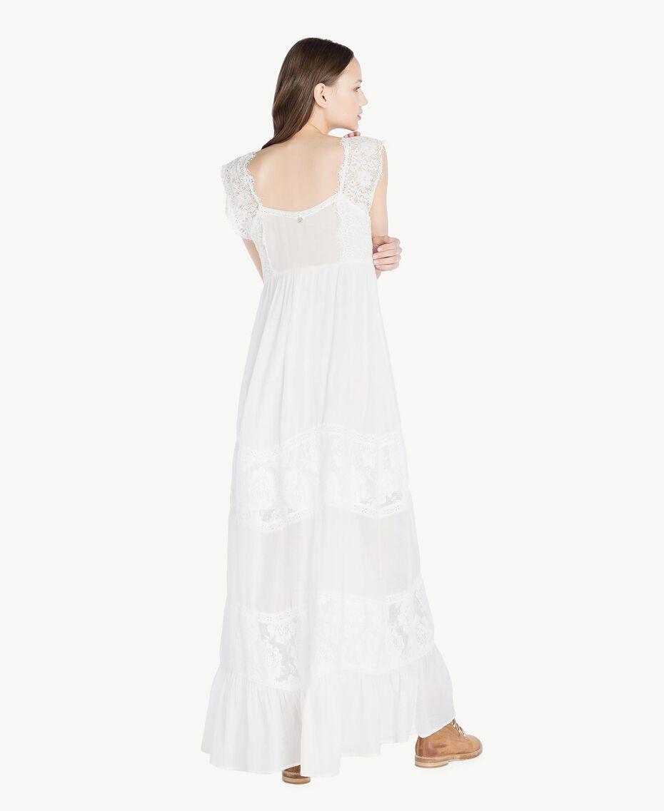Kleid aus Musselin Elfenbein Frau SS82HS-03