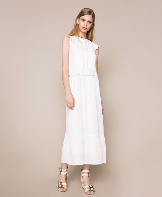 Crêpe de Chine long dress