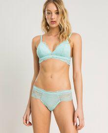 Lace Brazilian briefs Light Mousse Blue Woman 191LL6B77-02