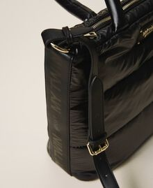 Quilted shopper with logo Black Woman 202MO8021-05