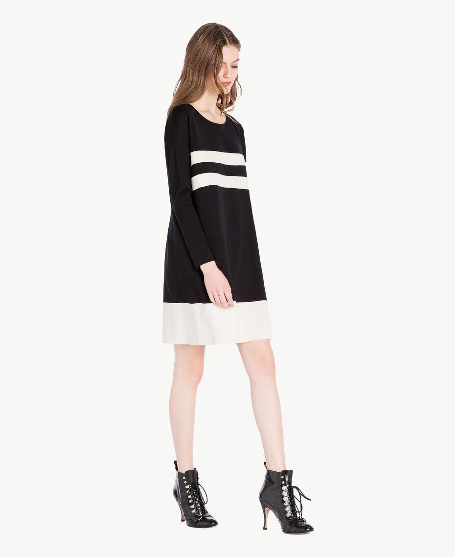 Vestido bicolor Negro Mujer PS828S-02