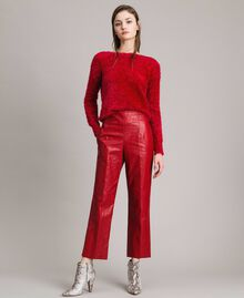 "Pantaloni in similpelle Rosso ""Ruby"" Donna 191TP2550-02"
