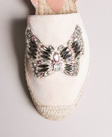 Leather espadrilles with jewelry butterfly Bud Pink Woman 191TCP10A-05