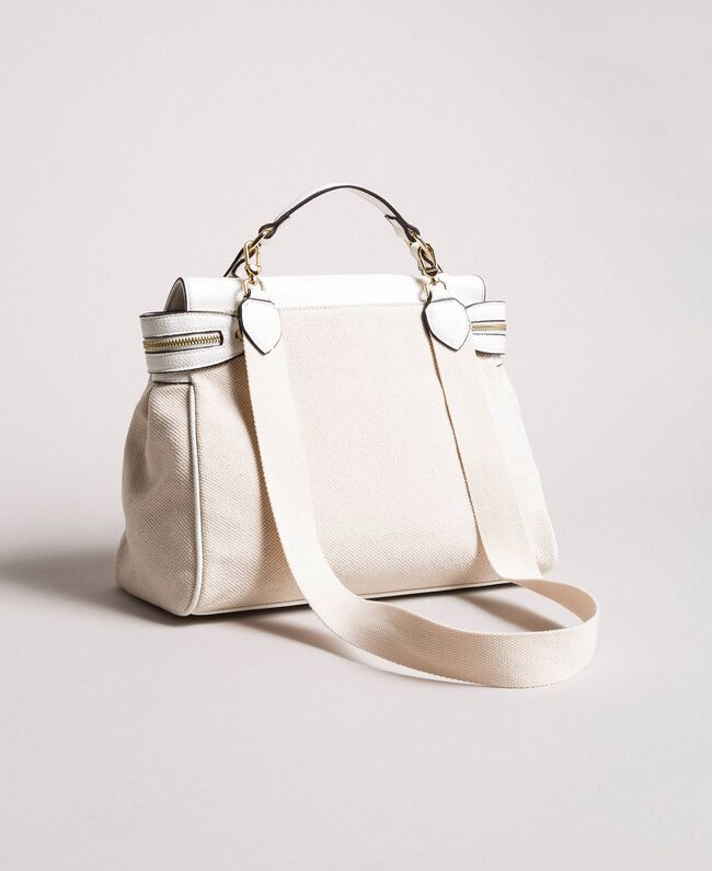 Canvas Cécile bag White Snow Woman 191TO8184-04