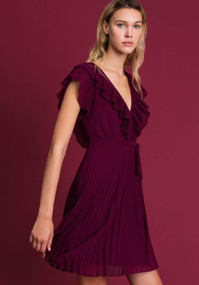 Pleated georgette dress