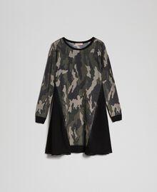 Abito in maglia stampata con inserti Stampa Camouflage Donna 192TT3341-0S