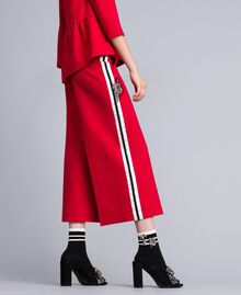 Milan stitch cropped trousers Venetian Red Woman PA821D-02