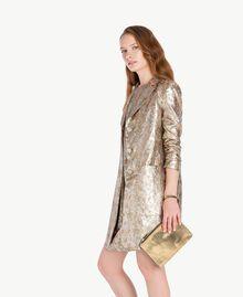 """Kleid aus Jacquard mit Lurex """"Lurex-Jacquard""""-Gold TA723C-05"""