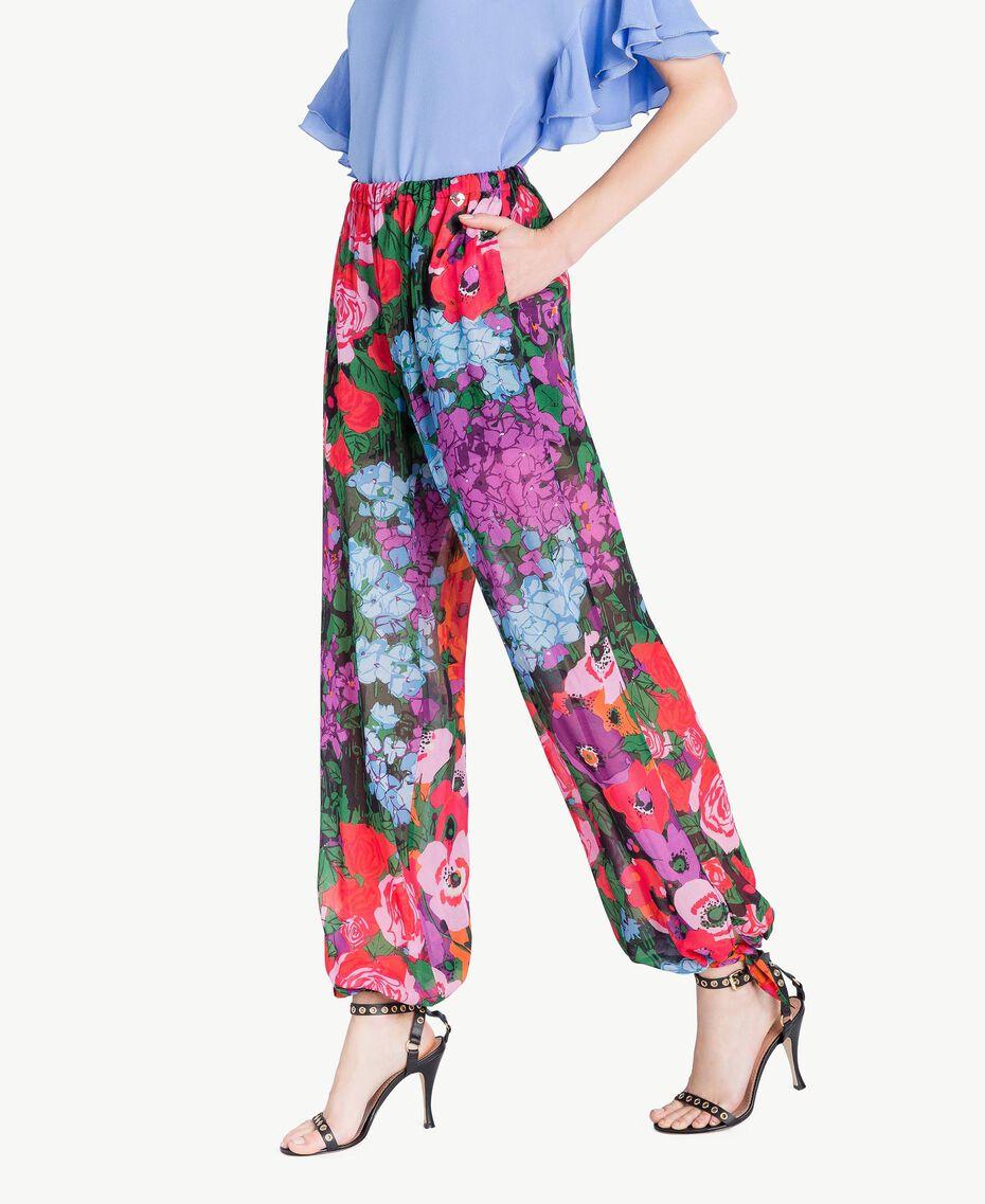 "Jogginghose mit Print ""Sixty Flower""-Print Frau TS824H-02"