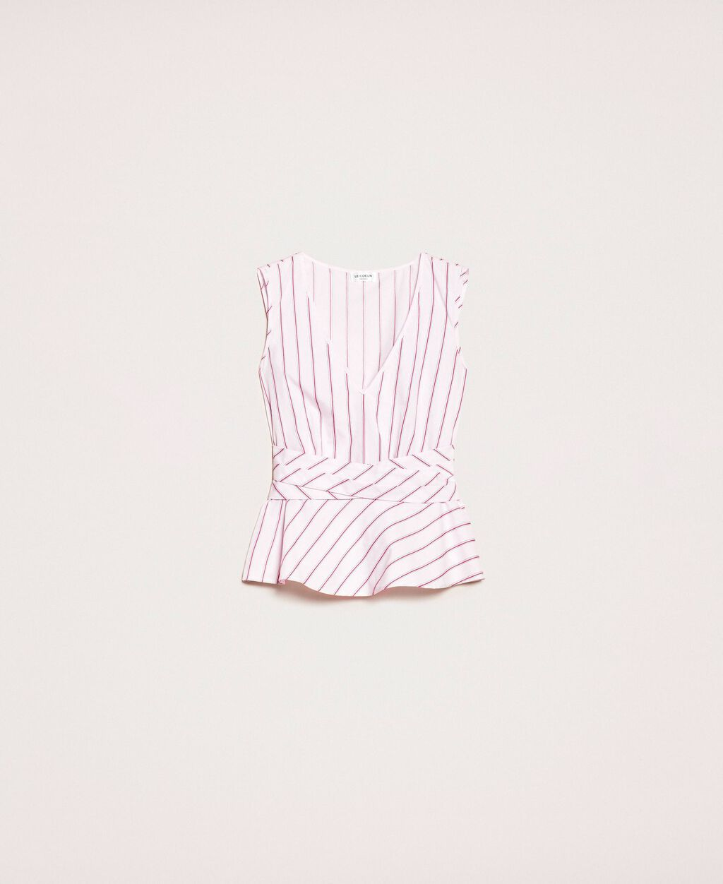 Poplin striped top