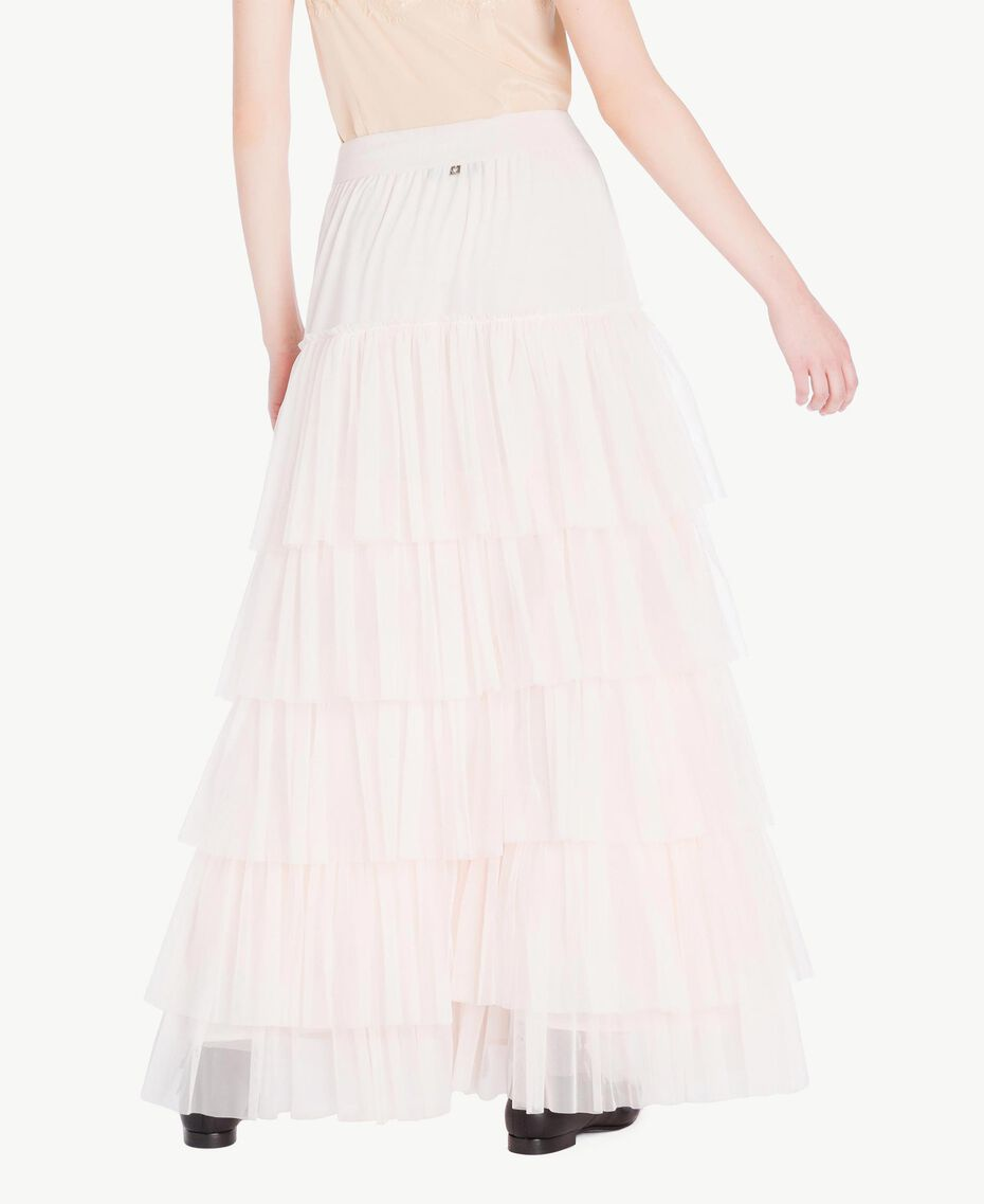 Tulle skirt Pale Ecru Woman PS8271-03