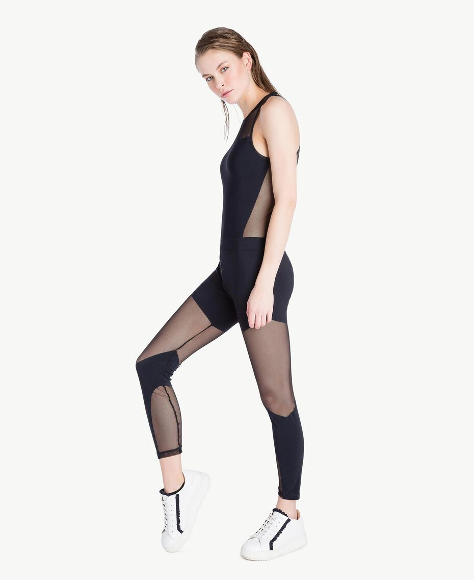 Tulle leggings Black Woman LS83KK-03