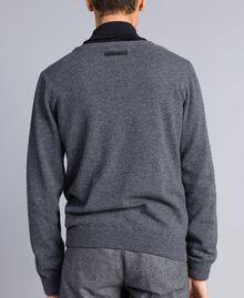 Pullover aus Wollmischung Durchschnittgrau-Mélange Mann UA83H1-03
