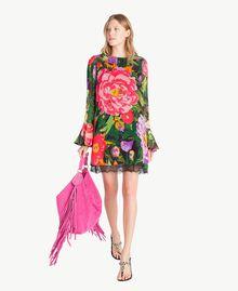 "Kleid mit Print ""Summer Garden""-Print Frau TS8242-05"
