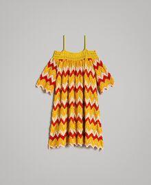 Multicolour jacquard dress Multicolour Jacquard Child 191GJ2270-01