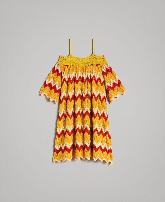 Multicolour jacquard dress