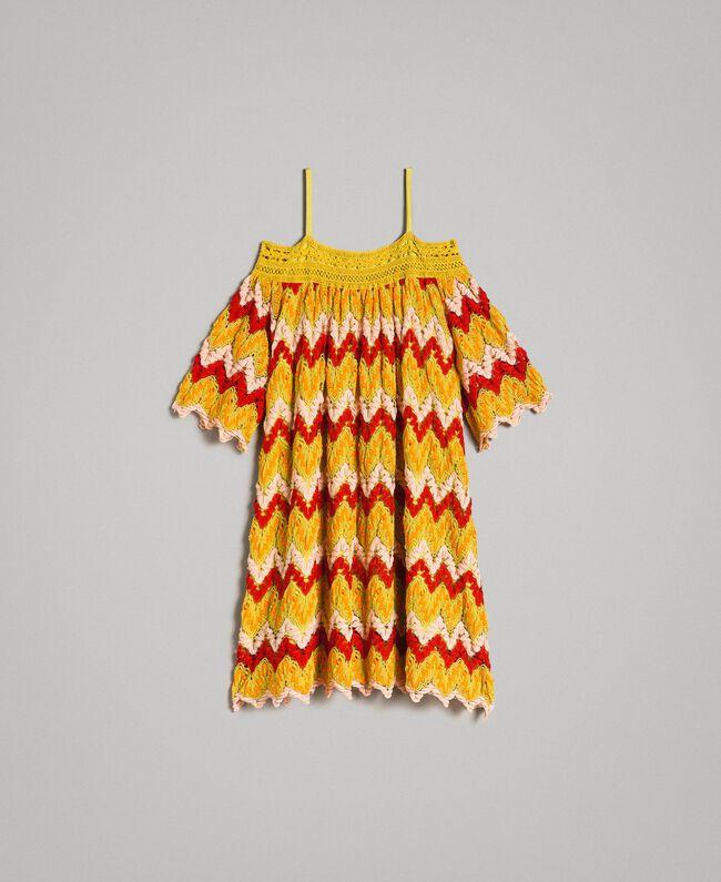 Mehrfarbiges Jacquard-Kleid Mehrfarbiger Jacquard Kind 191GJ2270-01