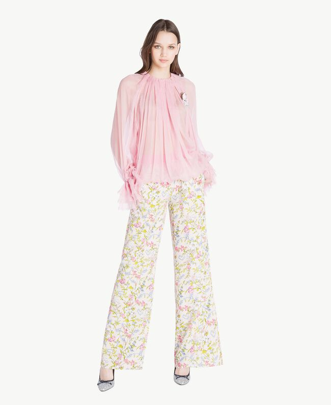 Silk blouse Hydrangea Pink Woman PS8221-06
