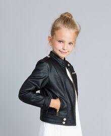 Veste en similicuir Noir Enfant GA82BA-02