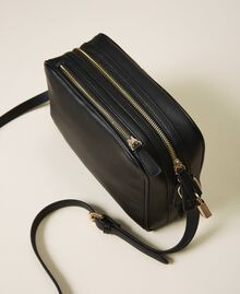 Shoulder bag with dual compartment Black Woman 202TB7032-04