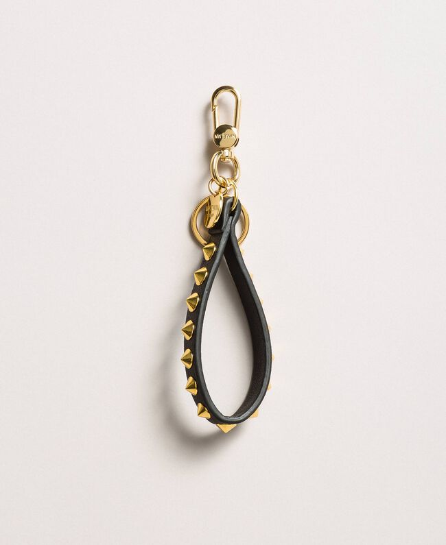 Porte-clés à mousqueton avec clous Noir Femme 191MA7130-01