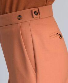 "Bi-stretch wool trousers ""Earth"" Brown Woman TA827R-04"