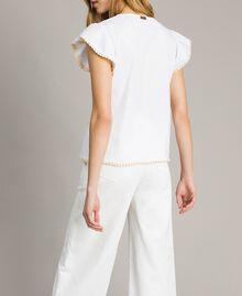 Poplin T-shirt White Woman 191LB2JDD-03