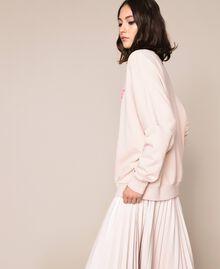 Maxisweatshirt mit Relieflogo Blütenknospenrosa Frau 201TP2083-02
