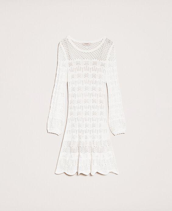 Ажурное трикотажное платье