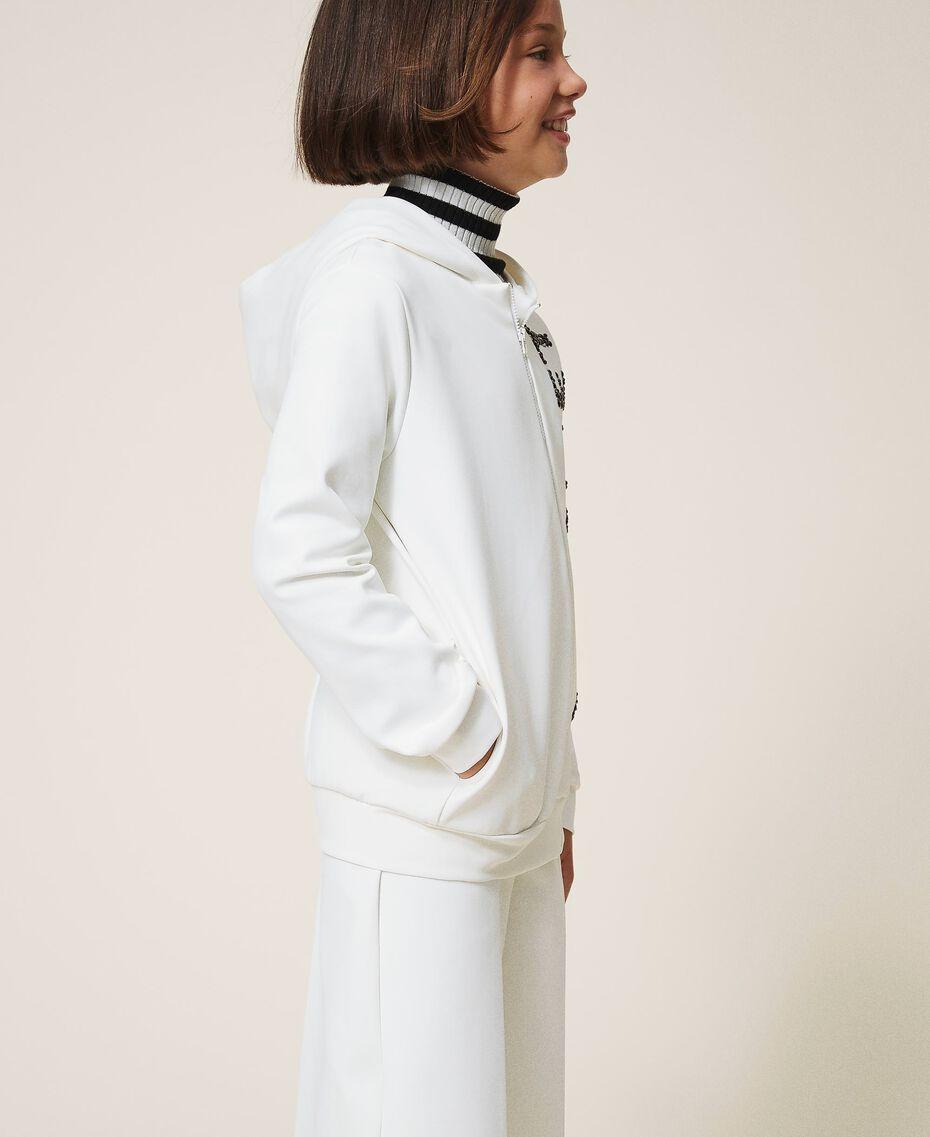 Maxi scuba sweatshirt with embroidery Off White Child 202GJ2700-02