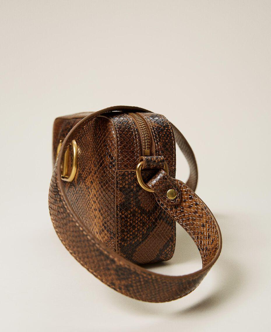 Animal print leather shoulder bag Leather Whips Print Woman 212TB7292-02