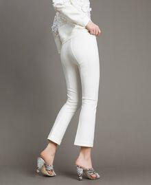 "Milan stitch  flared trousers ""Silk"" White Woman 191TP2424-04"