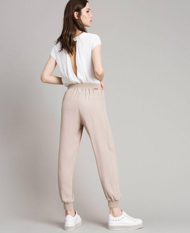 """Pantalon de jogging en crêpe Gris """"Poussière Grise"""" Femme 191LL23DD-04"""
