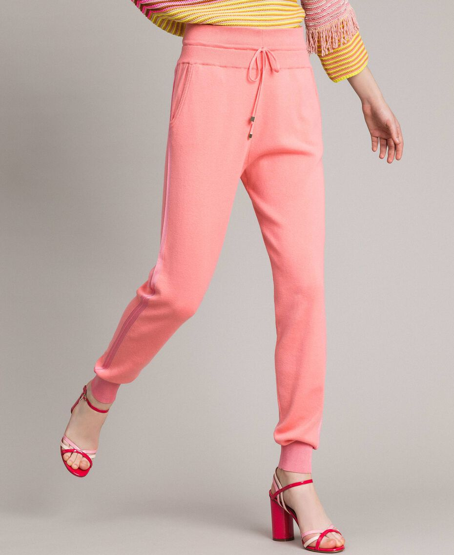 """Cashmere blend jogging trousers """"Wild Rose"""" Pink Woman 191TP3067-01"""