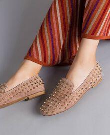 """Slippers in pelle scamosciata con borchie Rosa """"Pale Pink"""" Donna CA8TFJ-0S"""