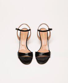Sandalette aus Leder Blütenknospenrosa Frau 999TCT012-04