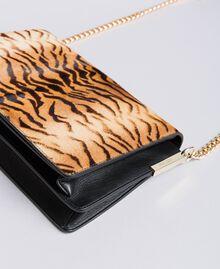 Sac à bandoulière en cuir effet poulain et cuir Imprimé Tigre Femme OA8TDN-01