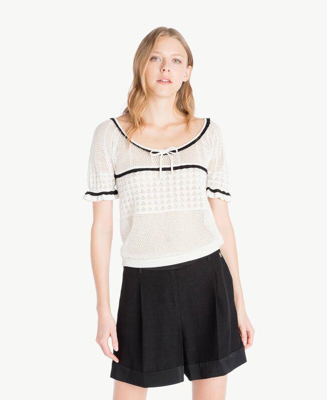 Top coton Nacre Femme TS83AP-01
